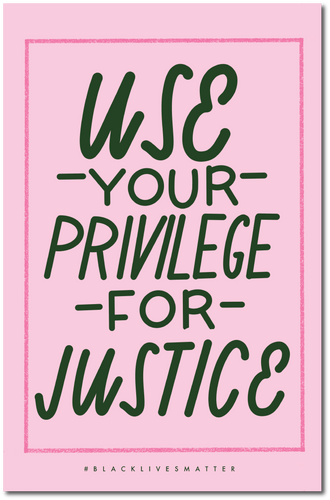 Use Your Privilege For Justice Protest Poster