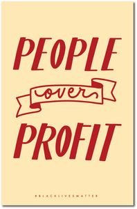 People Over Profit Protest Poster