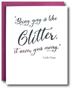 Glitter Gay Lady Gaga Card