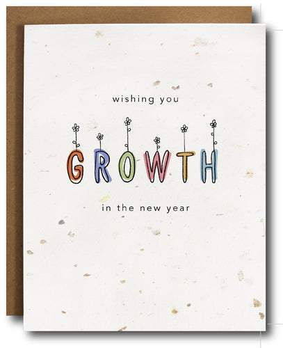 Growth New Year Plantable Card