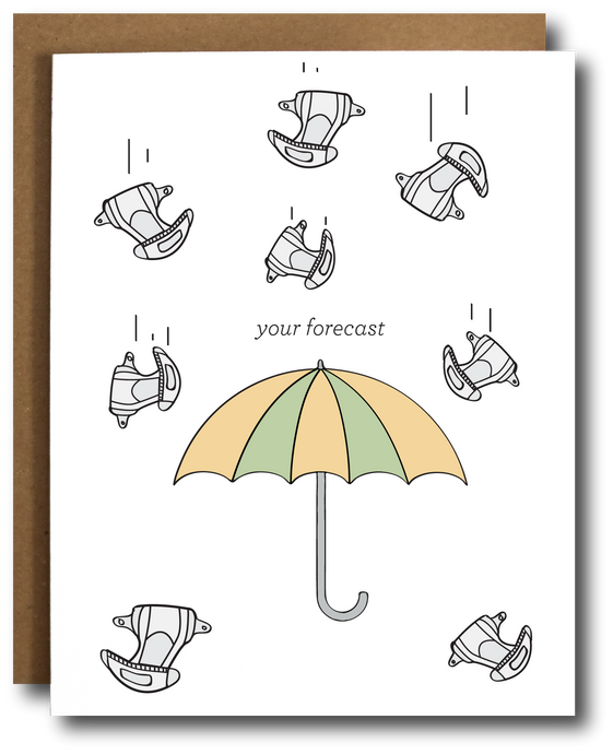 raining diapers baby card
