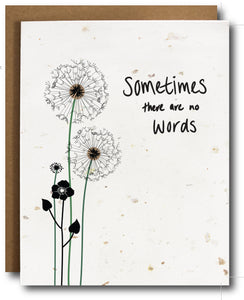 No Words Plantable Sympathy Card