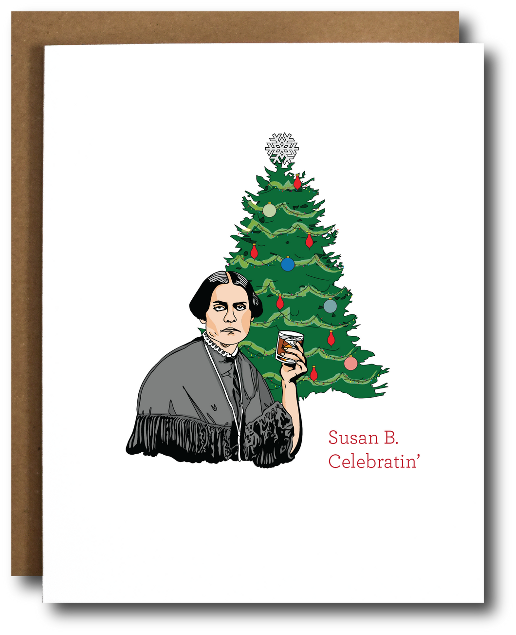 Susan B. Anthony Holiday card