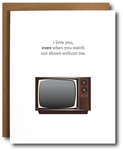 TV shows love Valentine's Day card