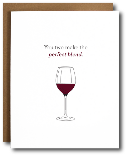 Perfect Blend Wedding/Anniversary Card