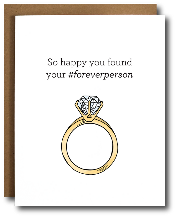 Forever Person Engagement Card
