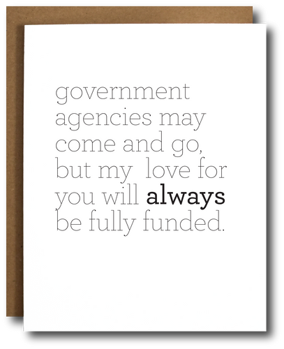Government Agency Love Card