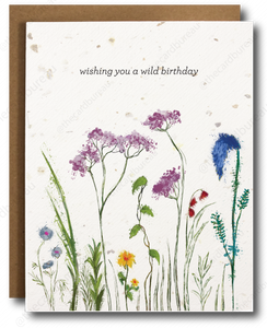 Wild Birthday Plantable Card