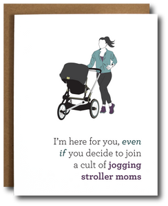 Stroller Runner Mom Baby Card