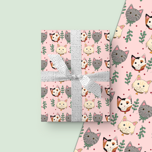 Meowy Christmas Wrapping Paper Roll