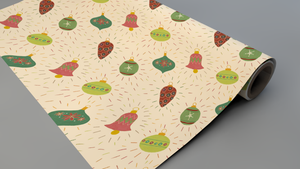 Christmas Ornaments Wrapping Paper Roll