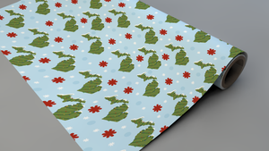 Michigan Winters Wrapping Paper Roll