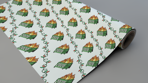 2020 Dumpster Fire Christmas Wrapping Paper Roll