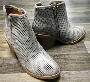 Grey Zip Up Ankle Boots