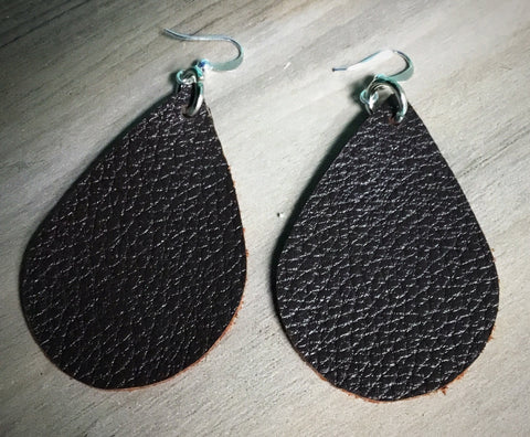 Dark Chocolate Drop Earrings