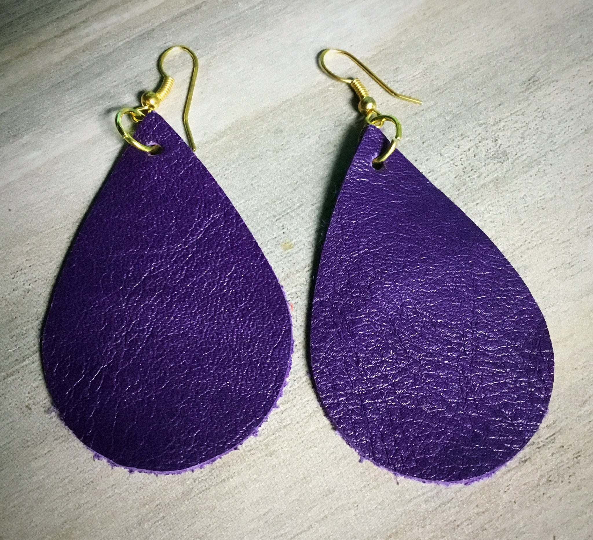 Game Day Leather Earrings