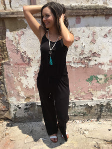 Black Pants Romper