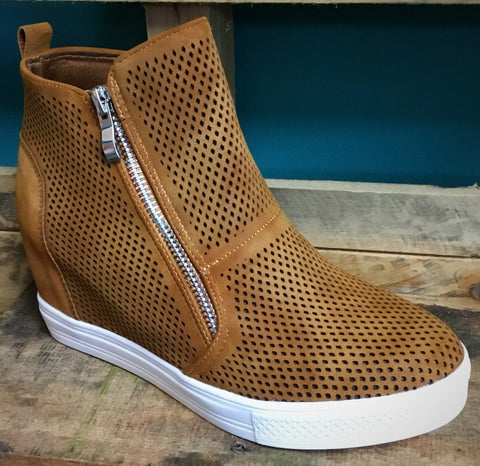 Tan Wedge Sneaker