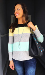Striped Multicolor Long Sleeve Top