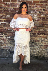 Two Piece Ivory Crochet Set