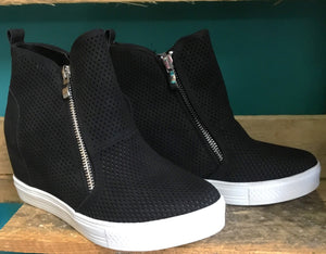 Black Sneaker Wedges