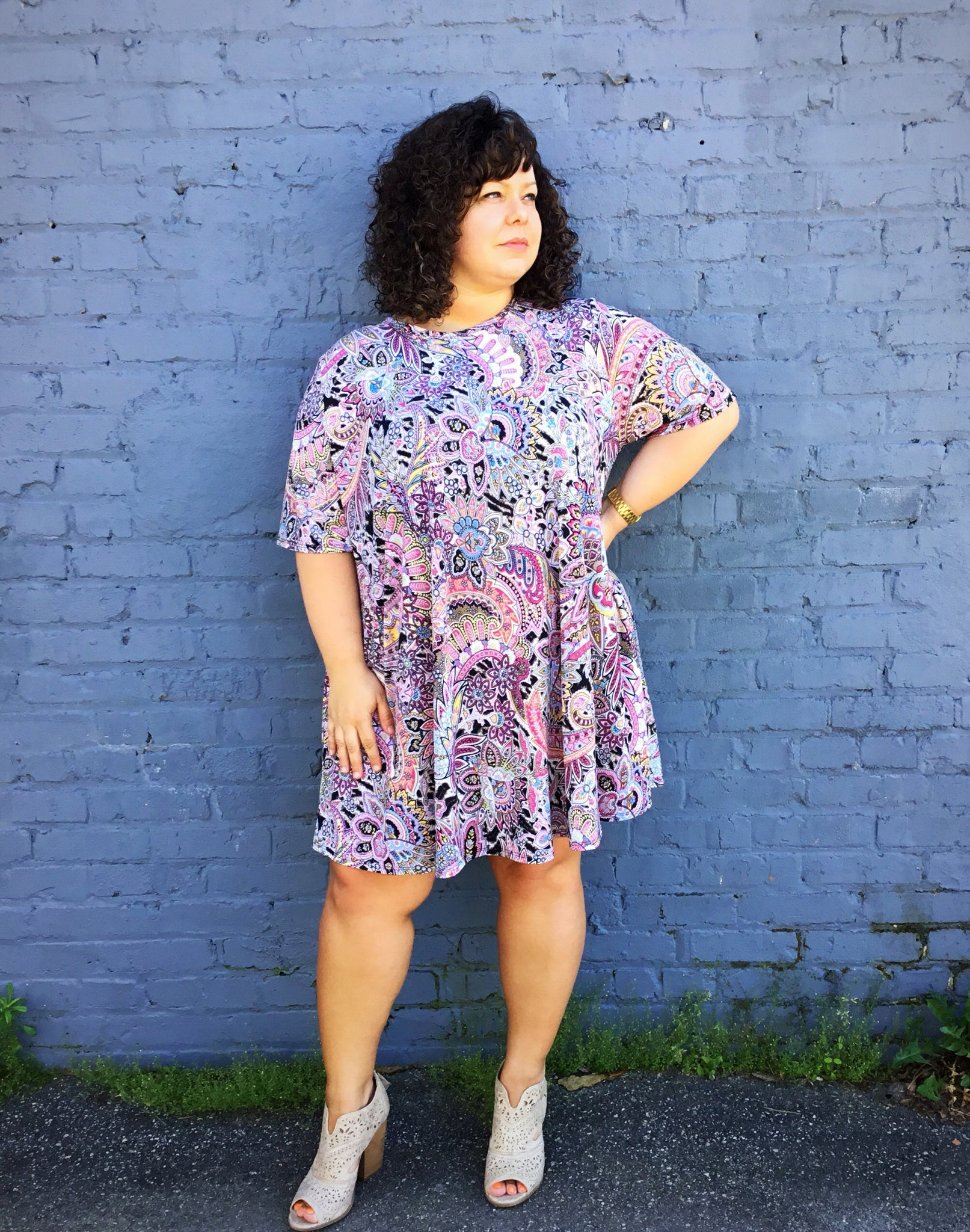 Multi Color Paisley Dress