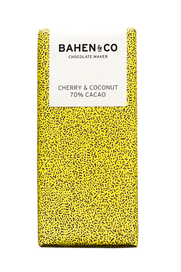 BAHEN & CO- Dk Chocolate - Cherry & Coconut 70% 75g