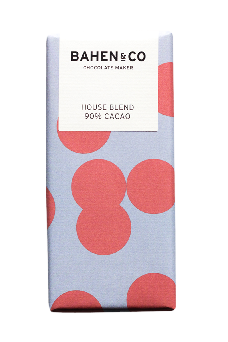 BAHEN & CO- Dk Chocolate - House Blend 90% 75g