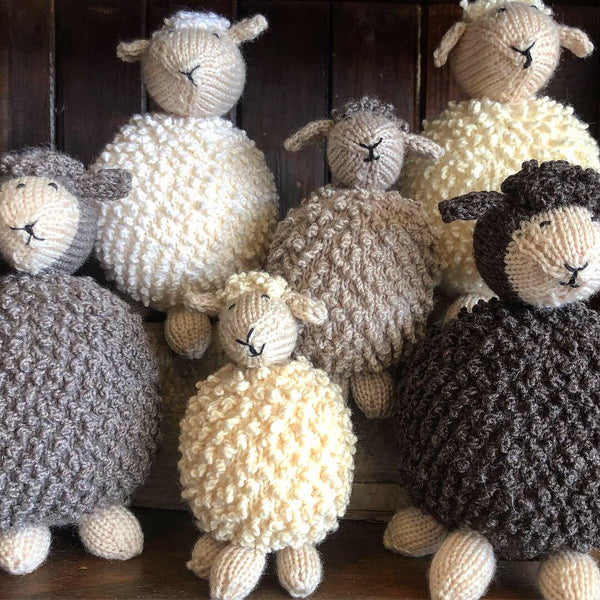 HAND KNITTED - Sheep and Lambs