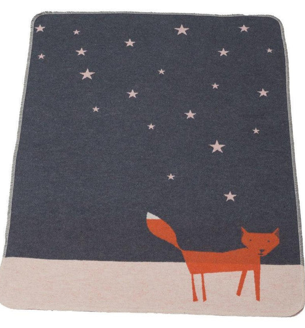 DAVID FUSSENEGGER -GREY FOX STARRY SKIES - JUWEL BASSINET BLANKET