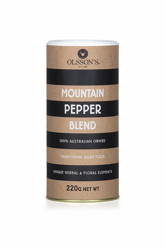 MOUNTAIN PEPPER BLEND SALT - BAG - 220g