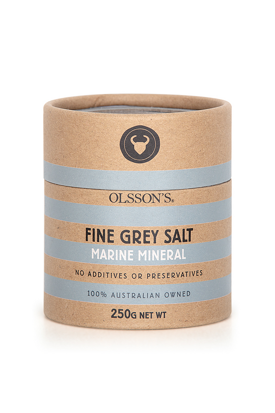 MARINE MINERAL GREY FINE SALT - Kraft Cannister 250g