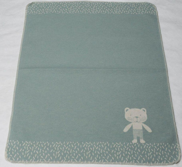 DAVID FUSSENEGGER - LIGHT GREEN TEDDY - JUWEL BASSINET BLANKET