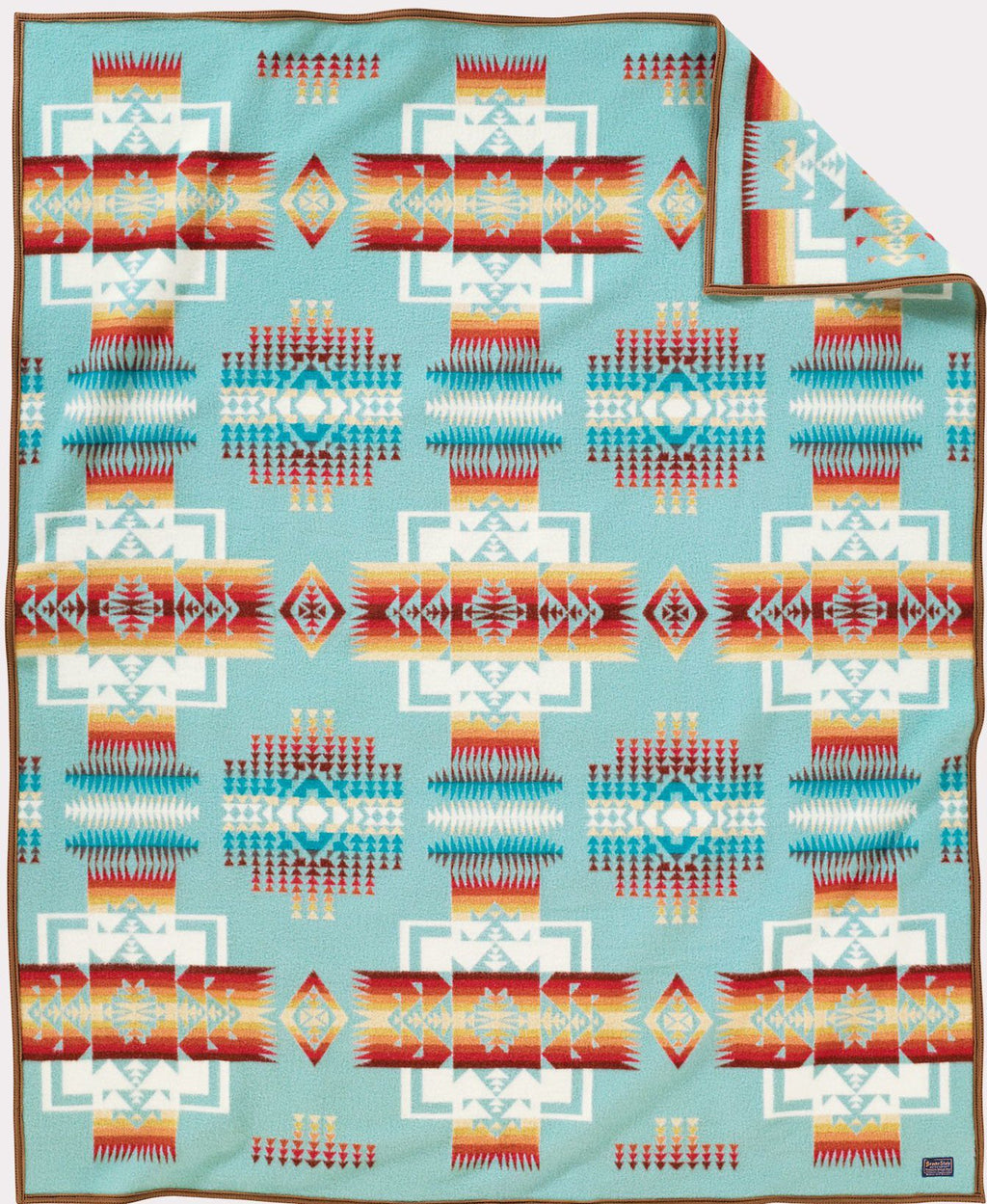 PENDLETON - CHIEF JOSEPH - AQUA Blanket Robe