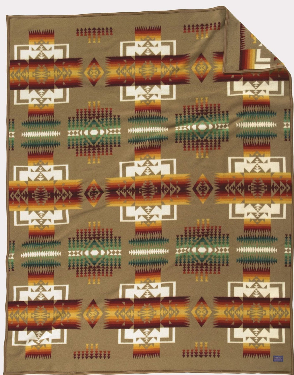 PENDLETON - CHIEF JOSEPH - KHAKI Blanket Robe