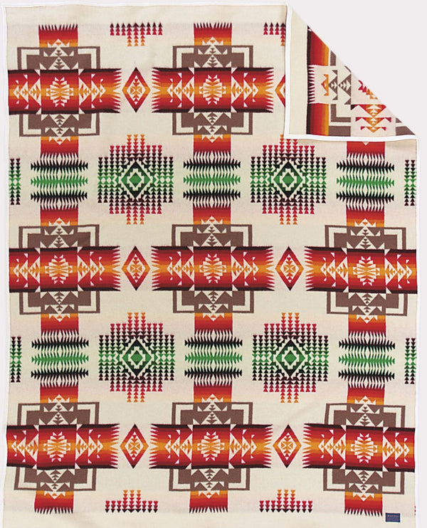 PENDLETON - CHIEF JOSEPH - WHITE Blanket Robe