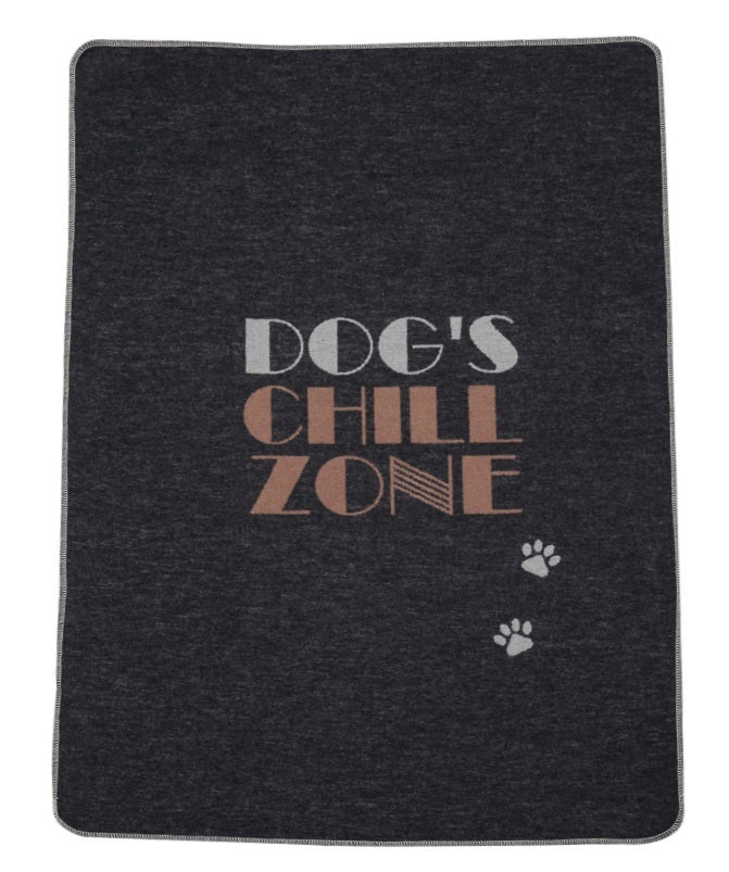 DAVID FUSSENEGGER - Charcoal DOGS CHILL ZONE Blanket
