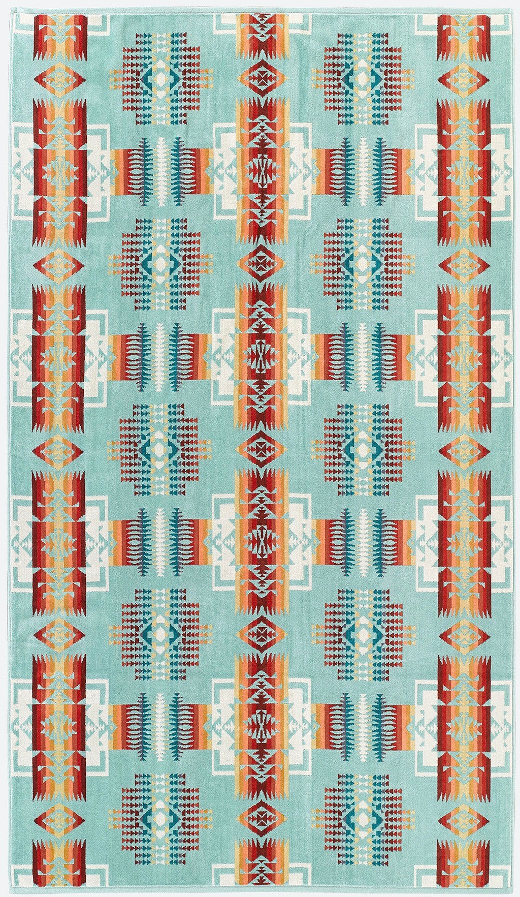PENDLETON - OVERSIZED JACQUARD TOWEL -  Chief Joseph Aqua