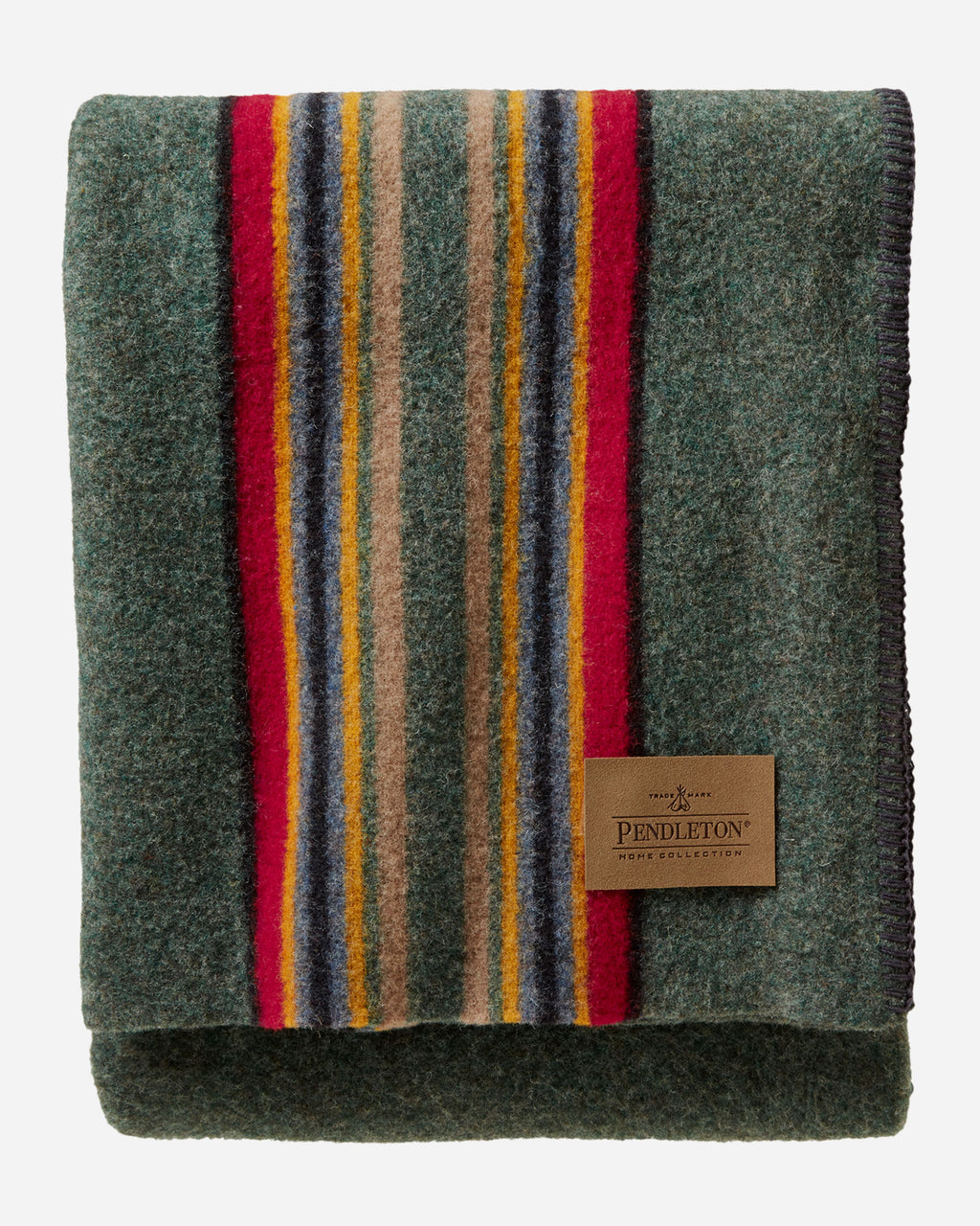 PENDLETON -  YAKIMA GREEN HEATHER throw