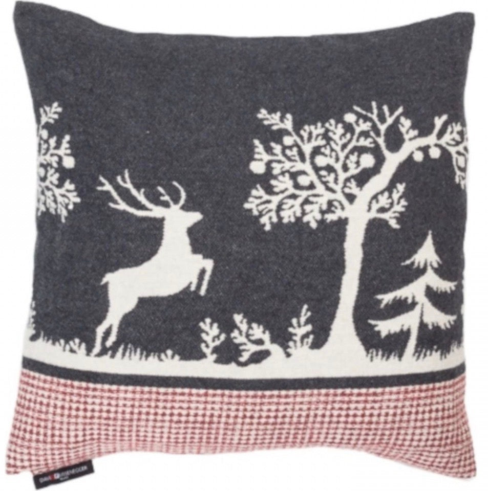DAVID FUSSENEGGER- SYLT Alpine Forest cushion - charcoal