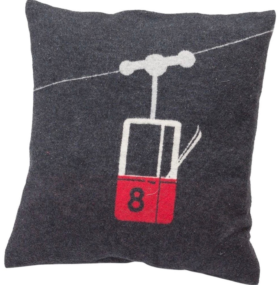 DAVID FUSSENEGGER- SILVRETTA Cable Car cushion - charcoal