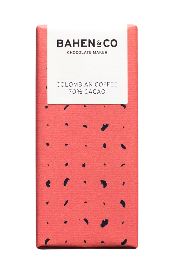 BAHEN & CO- Dk Chocolate - Columbian Coffee 70% 75g