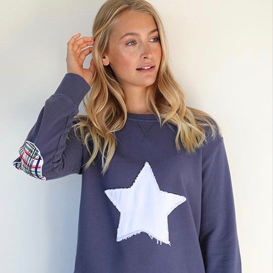 EST 1971 - BRIGHT PLAID STAR COTTON WINDY - OLD NAVY