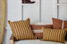 PONY RIDER - Safari Stripe Cushion - GOLDEN TAN 35 x 55