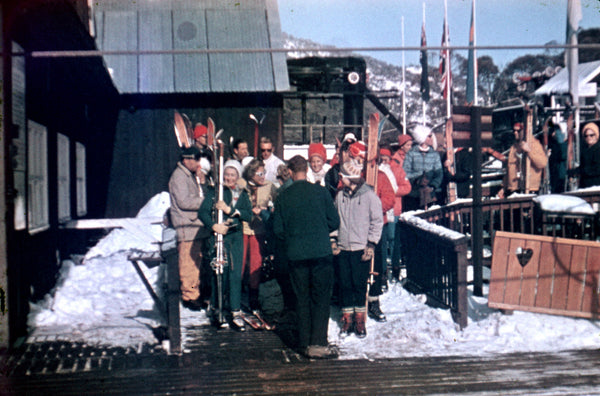 "Vintage photo ""Waiting to get on the Lift"" Circa 1960's"