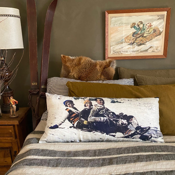 """ Spring Skiing"" ART CARD by JUSTINE SLOUGH"