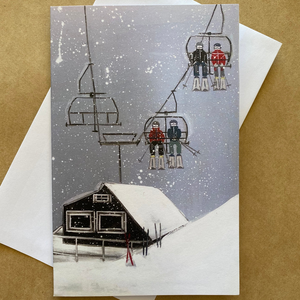 """EPIC SNOW DAY"" ART CARD by JUSTINE SLOUGH"