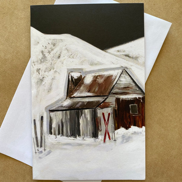 """ Winter at Four Mile"" ART CARD by JUSTINE SLOUGH"