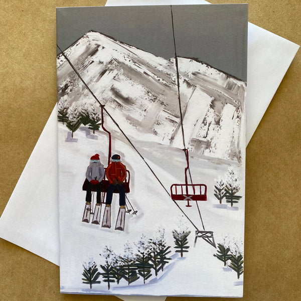 "'ON TOP OF THE WORLD"" ART CARD by JUSTINE SLOUGH"