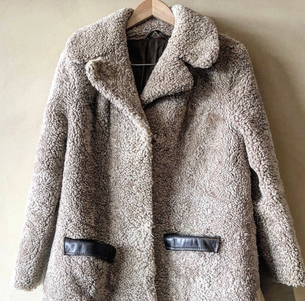 Vintage UK Womens Shearling jacket - Size Small- Medium